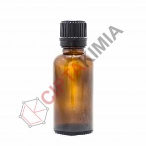 Botol Amber (Tebal) Filler 30ml - Black Cap